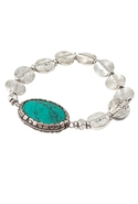 FINAL SALE-Vanessa Mooney The Femme Bracelet - Sil