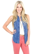 SALESiwy Natalie Denim Shirt in Someone Like You S