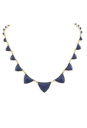Pyramid Necklace Navy