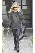 By Chance Melissa Heart Sweatshirt in Charcoal Sma
