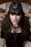 The Mercutio Scarf Headpiece - Silver/Blue
