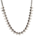 Mini Spikes Necklace - Silver