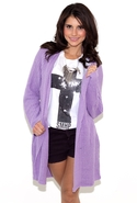 Ark & Co. Long Sleeve Cardigan in Lavender - Laven