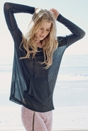 LnA Beach Hoodie - Black - Small