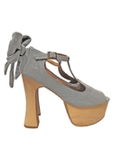 x Jeffrey Campbell Dallas Denim Shoes - Denim - 10