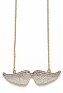 Pave Angel Wing Necklace - Gold