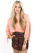 SALE-Mink Pink Split Personality Crop Blouse - She