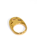 Zig Zag Ring in Gold 5