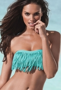 Dolly Fringe Bandeau in Tiffany Tiffany Blue Large