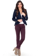 The Jean Legging in Coated Huckleberry - Coated Hu