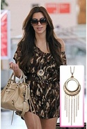 SALELow Luv Monocle Chain Fringe Necklace in Gold