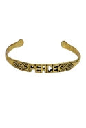 Peace Word Cuff - Brass