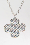 Clover Adjustable Necklace in Silver