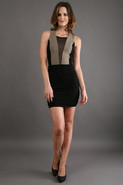 Pretty Girl Mini Dress in Black/Stone
