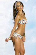 World Wide Print Bandeau With Boy Short