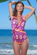 Lauren Ruffle One Piece in Ikat