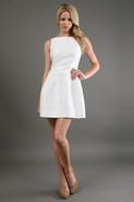 Fit and Flare Dress in White