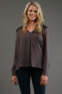 Bond St. Blouse in Grey