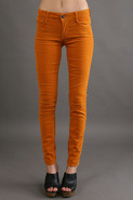 Esra Mid Rise Skinny in Amber