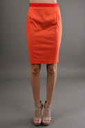 Crista Pencil Skirt with Contrast Waist