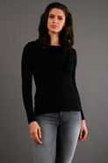 Cotton Marilyn Pullover in Black