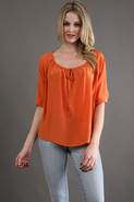 Scala Blouse in Orange