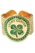 Clover Cigar Ring in 14k Plated Solid Brass