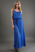 Holly Maxi Tank Dress in Fed Blue