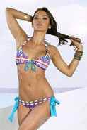 Rock N Indie Halter Racer with Tie Bottom