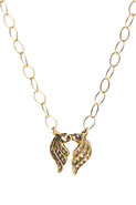 Deco Wings Necklace in Vermeil