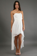 High Low Dress in Antique White