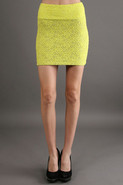 Levi Lace Skirt in Neon Lace