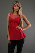 Mesh Molly Sweetheart Blouse