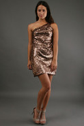 One Shoulder Triangle Sequin