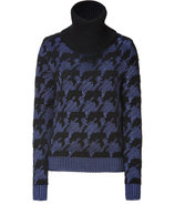Black and Blue Intarsia Sweater