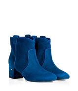Electric Blue Suede Ankle Boots