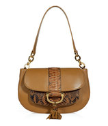 Barley Python Trim Shoulder Bag