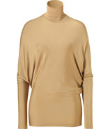 Patina Gold Dolman Stretch Silk Top