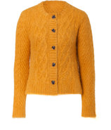 Deep Honey Cable Knit Cardigan