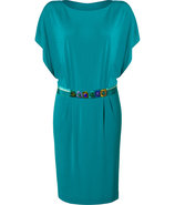 Dark Turquoise Embellished Belt Dress