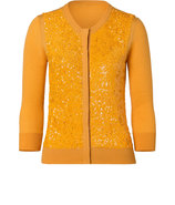 Sunflower Sequined Classic Cardigan