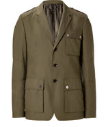 Military Green Cotton Bradfield Military Blazer