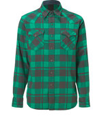 Green/Black Twill Western Shirt