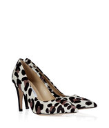 Snow/Black/Grey Leopard Anette Pumps