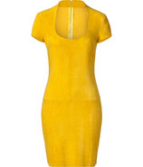 Yellow Suede Dress