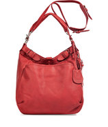 Vermillon Leather Hobo with Shoulder Strap