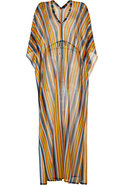 Curry/Petrol Rainbow Stripe Maxi Caftan