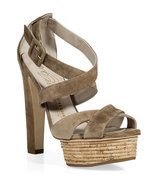Warm Taupe Cork Platform Sandals