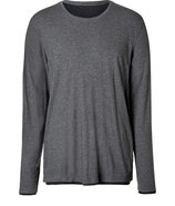 Heather Grey/Black Long Sleeve T-Shirt