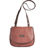 Nougat/Multi Embossed Leather Crossbody Bag